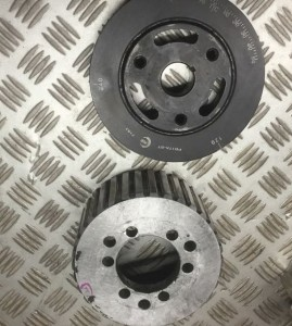 supercharger-crank-pulley-poor-quality - 1